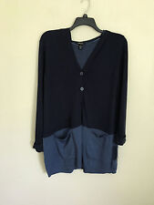 Style & Co. Plus Size Sweater 1x Color Blocked Hoodie Indigo Blue 2nd