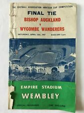 More details for bishop auckland v wycombe wanderers fa amateur cup final 1957 programme