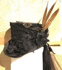 SDL Keyholes , PhesentTop Hat With Net Black Train &Bows In Size  58cm 59,60cm
