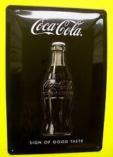 Tin Sign Nostalgie Blechschild Coca Cola Sign of Good Taste 20 x 30 cm