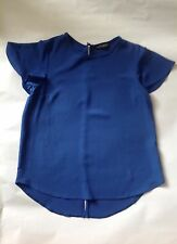 Blue Workwear Short-Sleeves Blouse Top -Dorothy Perkins Size UK 10/EUR 38