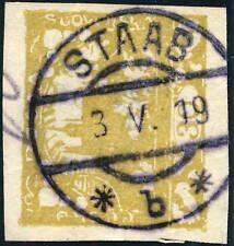 """TCHECOSLOVAQUIE / CZECHOSLOVAKIA 1919 """" STAAB *b* """" (STOD M.16 V.2303-3) on Mi.6"""