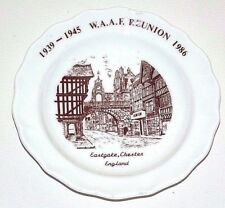 WWII VETERANS W.A.A.F. 1939-1945 12 cm plate 1986 Vintage