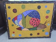 Kevin Burchett Folk Art Painting  Patchwork - Pig, Snail, Beaver you choose