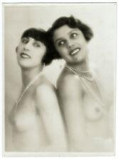 Photo curiosa - 15 x 21 cm - Femmes dénudées artistes cabaret - Women naked 1930
