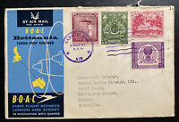 1957 Karachi Pakistan First Flight Airmail Cover FFC To Sydney Australia BOAC