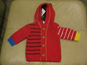 NWT HANNA ANDERSSON INFANT GIRLS CARDIGAN WITH ATTACHED HOOD SIZE 60 (2-6 MONTHS