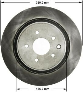 Disc Brake Rotor-IPL Rear Bendix PRT5816