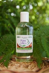 Sweet Almond Oil Natural Massage Carrier Oil Cold Pressed 100% Pure ( 6 Sizes )