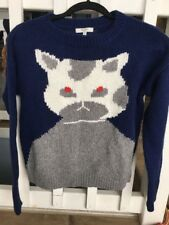 Rare Madewell Cat Eye Intarsia Blue Sweater XS NWOT