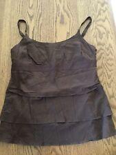 Abercrombie & Fitch Women's Tank Cami Brown Cotton M Medium NWOT