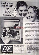Small 1939 'ESSE COOKER' Kitchen Cooking Range AD - Art Deco Print ADVERT