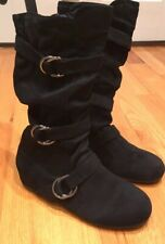 Forever Womens Fashion Slouch Side Zipper Mid Calf Flat Heel Boots 7, NWOT