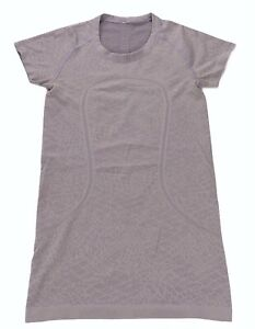 Lululemon Run Swiftly Tech Short Sleeve Shirt Size 4 Lace Heathered Lilac