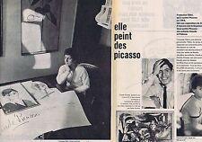 COUPURE DE PRESSE CLIPPING 1961 Françoise Gilot    (4 pages)