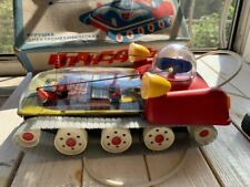VERY RARE VINTAGE SPACE TOY LUNOCHOD SOVIET USSR CCCP TOY WITH ORIGINAL BOX