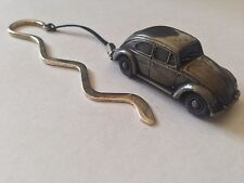 Beetle (Oval Rear Window) ref291 FULL CAR on a Curved bookmark with cord