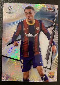 2020-21 Topps Finest UEFA #19 Sergino Dest Speckle Refractor /175 SP Barcelona