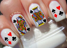 Playing Cards Nail Art Stickers Transfers Decals Set of 60