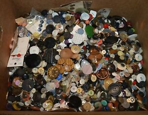 17 pounds vintage clothing buttons Nice Estates Lot