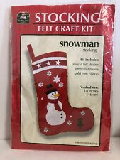 Christmas Snowman Stocking Craft Felt Kit 18