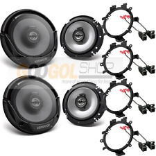 KENWOOD-KFC-1666S CAR Truck Front & Rear Door Speakers W/Install Kits 1995-up