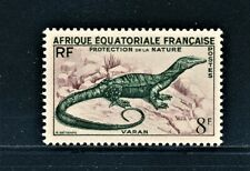 FRANCE FRENCH EQUATORIAL AFRICA 1955 REPTILE SAVANNAH MONITOR LIZARD MLH SCT 188