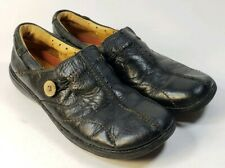 Clarks Womens Size 10 N Loafers Slip on Casual Narrow Shoes Black Leather #S