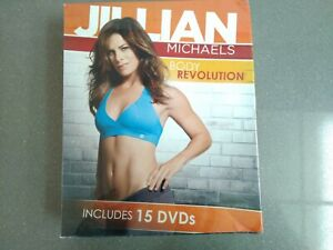 Jillian Michaels Body Revolution Includes 3 Books 15 DVDs - BRAND NEW