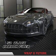 Glossy Black 5D Carbon Fiber Vinyl Wraps Car Body Decal Air Free 1.51M x 75CM