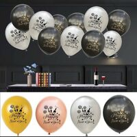 """10 PCS Happy New Year 12"""" Assorted Latex Balloons New Years Eve Party Decoration"""