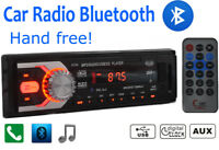 Autoradio Bluetooth Head Unit 1DIN In Dash 12V SD/USB AUX Stereo iPhone Androide