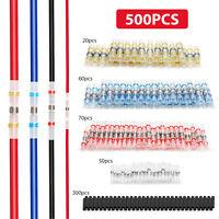 500x Solder Sleeve Heat Shrink Wire Butt Splice Connectors Terminals Waterproof