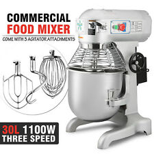 Brand New Commercial 30 Litre Planetary Mixer Dough Mixer 3 attachments 1100W