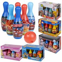 Kids Disney Bowling Set Skittles Pins Toy Indoor Outdoor Ball Game Fun Xmas Gift