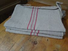 Antique European Feed Sack GRAIN SACK Red Stripe # 10406