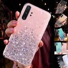 For Samsung Galaxy S20 S10 Note10 Bling Glitter Clear Cute Soft Phone Case Cover