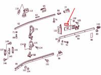 Mercedes-Benz Vito W638 Centrale SX Porta Scorrevole Meccanismo A6387600947 New