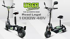 UberScoot 1000W 48V Electric Scooter New 2018 Road Legal Scooter, Viper Scooters