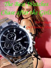 2016 Luxury Men Watch Stainless Steel Band Machinery Sport Quartz Wrist Watches