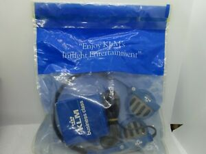Vintage KLM Airlines Business Class Headphone Set Sealed