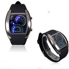 Stainless Black Steel Men's Fashion Sport Digital LED Date Analog Wrist Watch