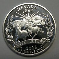 2006-S Nevada Gem DCAM Silver Proof State Quarter Stunning Coin