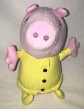 "Fisher Price Peppa Pig  Plush Stuffed Toy 8"" Yellow Raincoat"