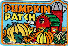 """PUMPKIN PATCH"" IRON ON EMBROIDERED PATCH- HALLOWEEN - AUTUMN -  SCARY - FUN"