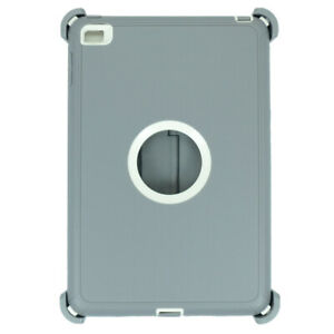 Gray For iPad Mini 5 Defender Case w/ Stand Holder & Built in Screen Protector