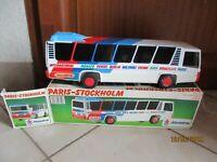 Ancien Bus Joustra Ceji ref 0473 Paris Stockholm à friction en boite