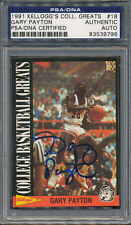 1991/92 Kellogg's Greats #18 Gary Payton PSA/DNA Certified Authentic Auto *9796