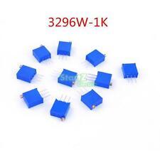100pcs 3296W 102 High Precision Trimmer Potentiometer Variable Resistor 1K Ohm