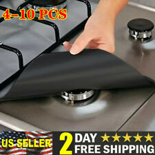 Gas Range Stove Top Burner Cover Protector Reusable Liner Clean Cook Non-stick
